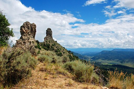 picture of Chimney Rock in Colorado